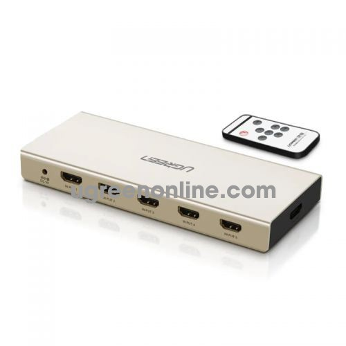 Ugreen 40370 Hdmi 5*1 Switch With 3.5Mm + Spdif Zinc Alloy Mm129 10040370