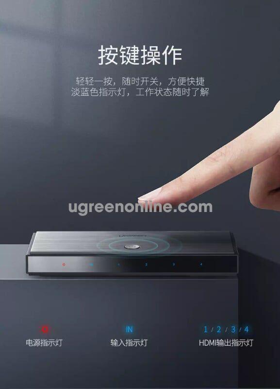 Ugreen 50708 1x4 HDMI 2.0 Splitter Support 4K*2K@60HZ 1080p CM187