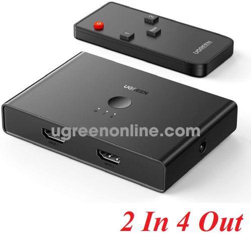 Ugreen 70690 4K 60hz 2.0 2 in 4 Out HDMI Switcher splitter CM319 10070690