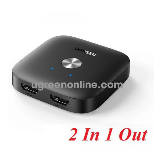 Ugreen 80126 2 In 1 Out 4K 60HZ black HDMI Switcher CM333 10080126