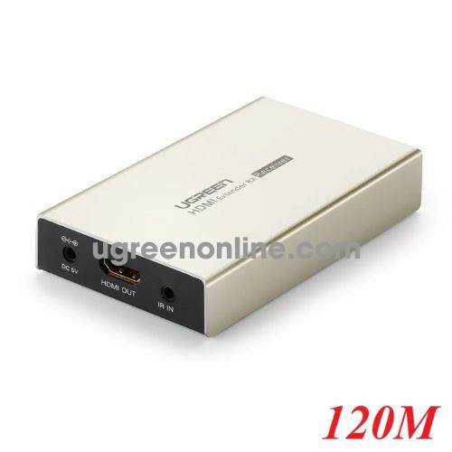 Ugreen 30945 120m hdmi single extender transmitter by cat5e 6 with ir control hợp kim kẽm mm116