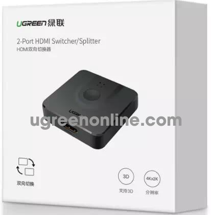 Ugreen 50966 2 Port Hdmi Switcher Splitter Cm127