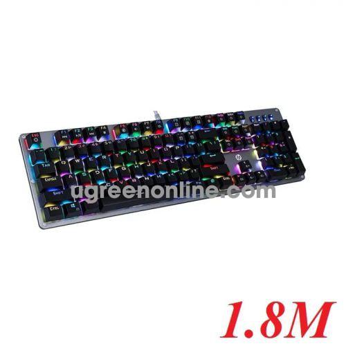 Hp Gk100S Bàn Phím Cơ Blue Swicth 1.8M Keyboard Bạc Usb Led Màu Siêu Bền 50 Triệu Lần Bấm - 95043