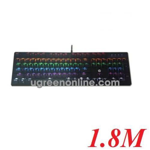 Hp Gk320 104 Phím Cơ Màu Đen 1.8M Usb Keyboad Blue Swicth Siêu Bền 50 Triệu Lần Bấm - 95900