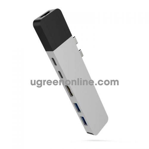 HYPER GN28N-SILVER Cổng chuyển Hyperdrive NET 6in2 USB Type C Hub 95519