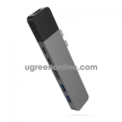 HYPER GN28N-GREY Cổng chuyển Hyperdrive NET 6in2 USB Type C Hub 95543