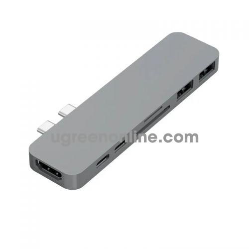HYPER GN28B-GREY Cổng chuyển HyperDrive USB TypeC Thunderbolt 3 Hub 95736
