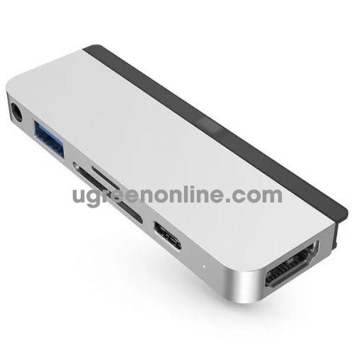 HYPER HD319A-SLIVER Cổng chuyển chuyên dụng HyperDrive USB-C Hub for iPad Pro 96796