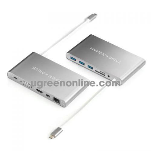 HYPER GN30-GREY Cổng chuyển HyperDrive USB-C Ultimate Hub 96927