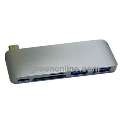 HYPER GN21B-GREY Cổng chuyển HyperDrive USB Type C 5in1 Hub Charging 96937