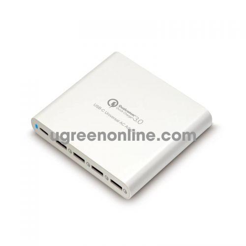 HYPER HJQ5UWHITEUS Sạc Hyper USB C adapter 4 QC 3.0 USB 97607