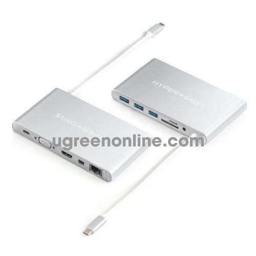 HYPER GN30-SILVER Cổng chuyển HyperDrive USB-C Ultimate HuB 97668