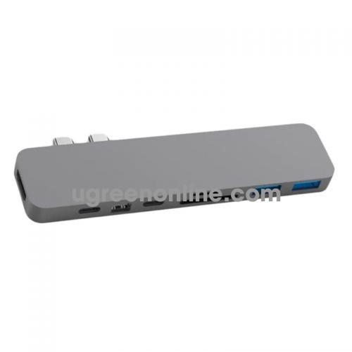 HYPER GN28D-GREY Cổng chuyển Hyperdrive USB Type C Pro 8 in 2 Hub 98278