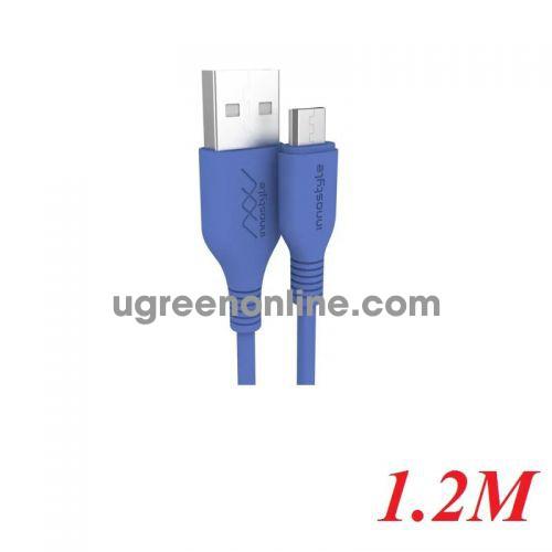 INNOSTYLE J_IAB120_tLBL 1.2M 10W Màu Xanh dương Cobalt Cáp Innostyle Jazzy Usb A To Micro Usb 97703