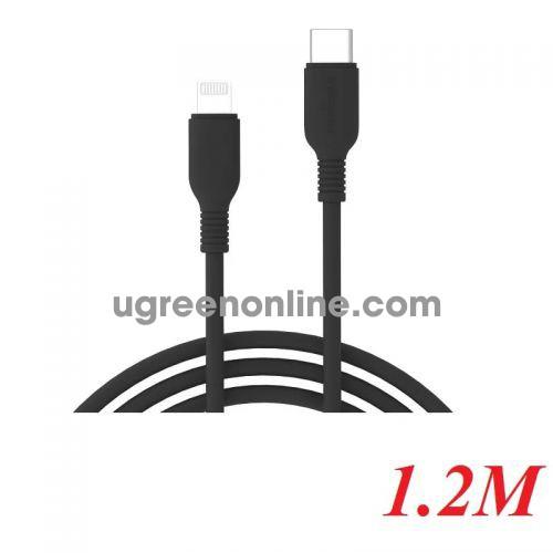 INNOSTYLE J_ICL120_ tBLK 1.2M 18W Màu Đen Cáp Innostyle Jazzy usb type c To Lightning MFI Iphone Ipad Ipod 97986