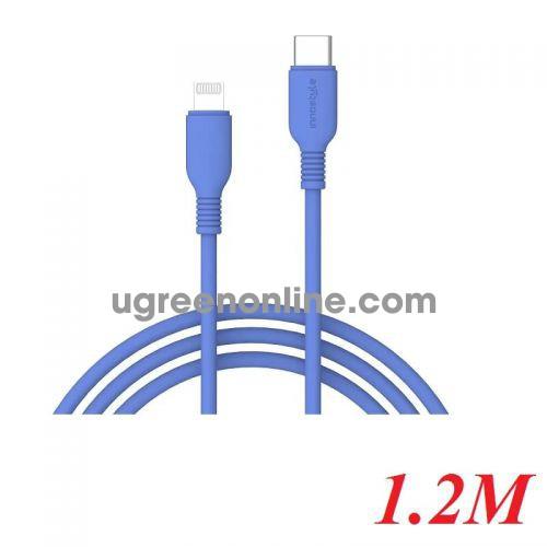 INNOSTYLE J_ICL120_ tBLU 1.2M 18W Màu Xanh dương Cáp Innostyle Jazzy usb type c To Lightning MFI Iphone Ipad Ipod 98407