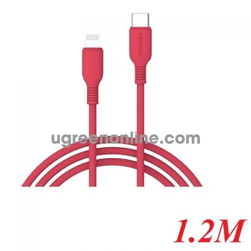 INNOSTYLE J_ICL120_ tORN 1.2M 18W Màu Cam Cáp Innostyle Jazzy usb type c To Lightning MFI Iphone Ipad Ipod 95191