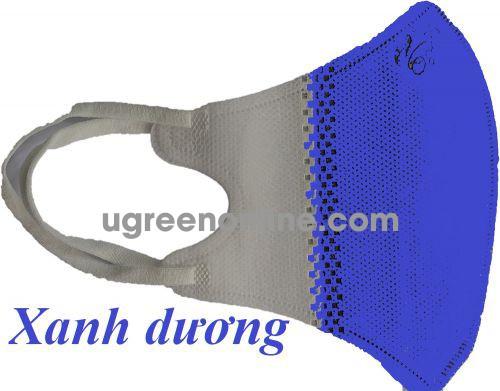 GBP 97132 màu xanh biển 5 chiếc khẩu trang y tế 3D 4 lớp dùng cho trẻ em kháng khuẩn và bụi mịn KT3D4L