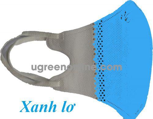 GBP 98822 màu xanh lơ 5 chiếc khẩu trang y tế 3D 4 lớp dùng cho trẻ em kháng khuẩn và bụi mịn KT3D4L