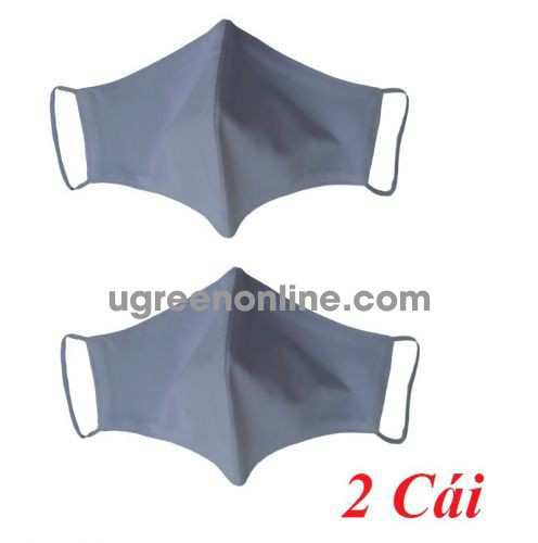 Minh Minh 87577 màu trắng combo 2 chiếc khẩu trang 3 lớp vải - lọc - kháng khuẩn. có thể giặt được. chống tia UV. chống thấm nước bọt và dịch từ bên ngoài GKOL KT3LV 10087577