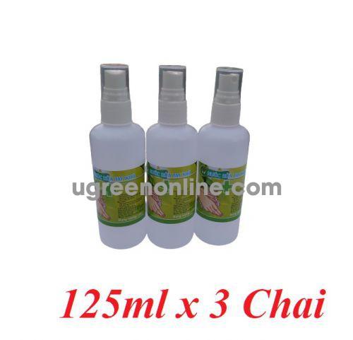 PM 86205 lô 3 chai xịt mỗi chai chứa 125ml cồn 70 độ nước rửa tay khô diệt khuẩn dùng cho y tế và gia đình GKOL 86205