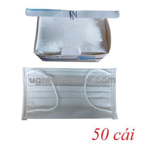 Makmask 19070 VKDtrangMM hộp 50 cái màu trắng khẩu trang mak mask 4 lớp hoạt tính kháng khuẩn dùng cho y tế - đi đường - sinh hoạt hàng ngày 10019070