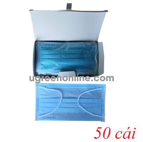 Makmask 15497 VKDxanhMM hộp 50 cái màu xanh khẩu trang mak mask 4 lớp hoạt tính kháng khuẩn dùng cho y tế - đi đường - sinh hoạt hàng ngày 10015497