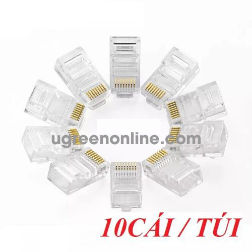 Ugreen 20329 Rj45 Network Crystal Head 10Pcs/Bag Nw110