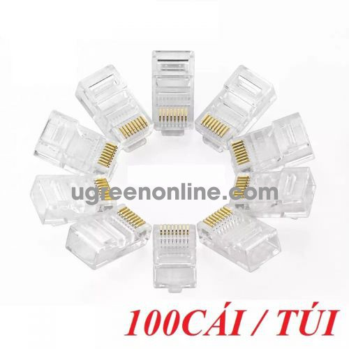 Ugreen 50246 Rj45 Network Crystal Head 100Pcs/Bag Nw110