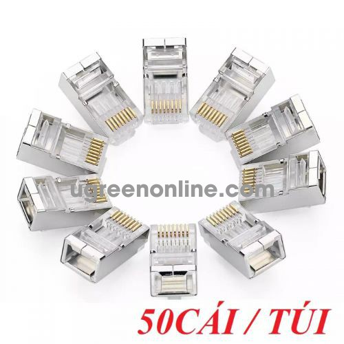 Ugreen 50247 Cat 6 Shielding Crystal Head 50Pcs/Bag Nw111