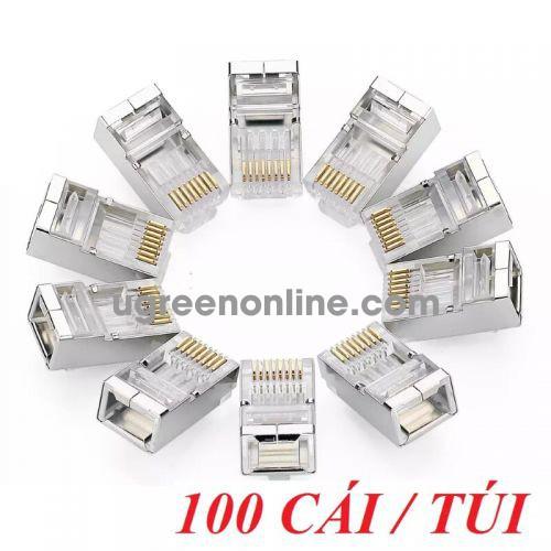 Ugreen 50248 Cat 6 Shielding Crystal Head 100Pcs/Bag Nw111