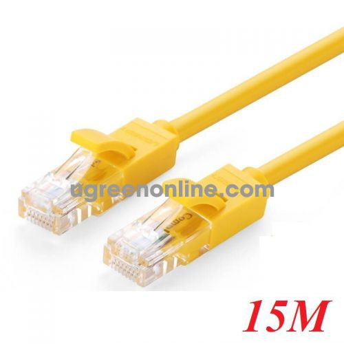 Ugreen 60815 15M Cat5e UTP Lan Cable Yellow NW103 10060815