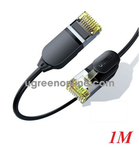 Ugreen 80415 1M CAT7 0.38mm Mini Slim 10Gbps Enthernet Cable Ethernet Black NW149 10080415