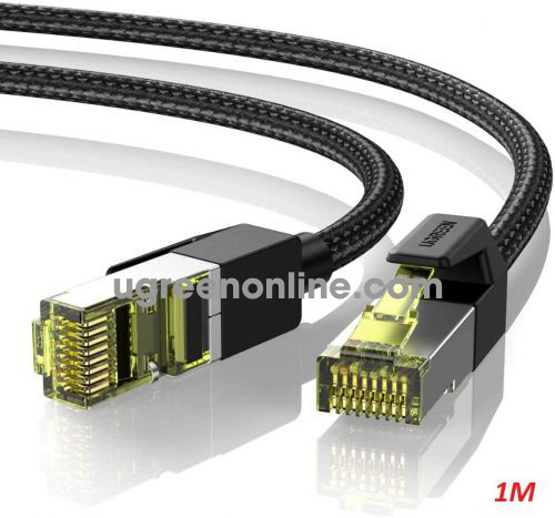 Ugreen 80421 1m Cat7 Pure Copper Braided Ethernet Cable OD5.5mm Black NW150 10080421