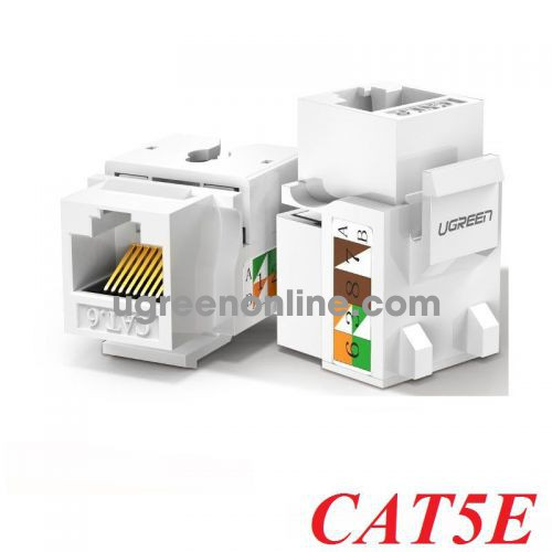 Ugreen 80176 cat5e white Unshielded Network Modules Keystone Ethernet 8P8C RJ45 100 Mbps 568A-B white NW142 10080176