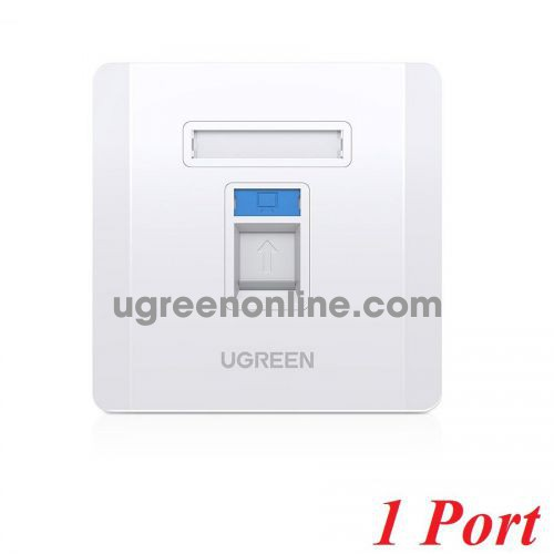 Ugreen 80180 white Wall Socket internet LAN RJ45 86 mm x 86 mm NW144 10080180