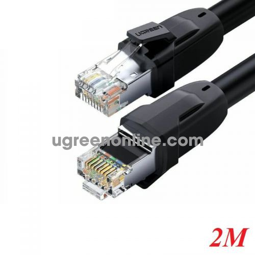 Ugreen 70329 2M Black Cat 8 Ethernet Cable RJ 45 Network Cable UTP Lan Cable NW121