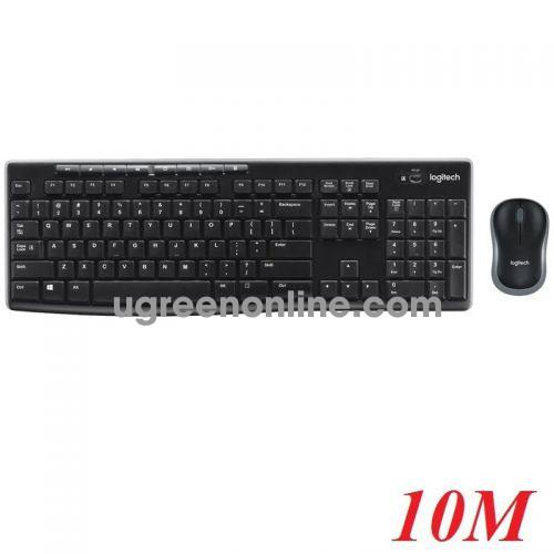 Logitech Mk270 bộ bàn phím chuột không dây 10m 98443 10098443