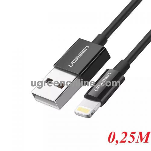 Ugreen 10468 0.25M Lightning to USB cable cáp ( ABS Case) US155 10010468