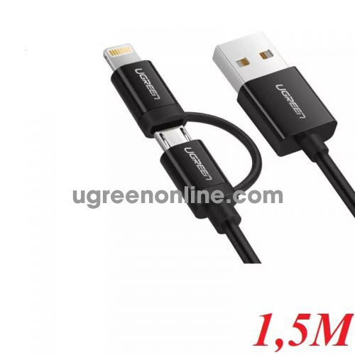 Ugreen 40941 1.5M USB to Micro USB + Mini USB Data cable cáp US178 10040941