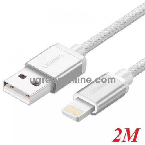 Ugreen 30586 2M MFI Lightning to USB cable cáp Aluminum Case + Braid US199 10030586