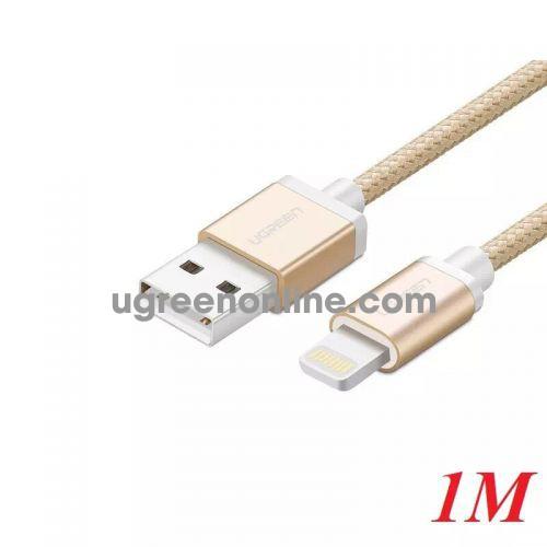 Ugreen 30587 1M MFI Lightning to USB cable cáp Aluminum Case + Braid US199 10030587