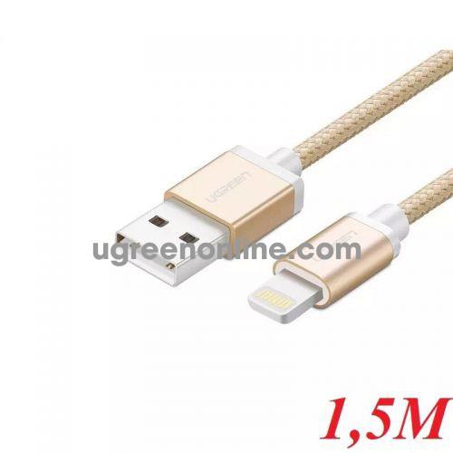 Ugreen 30588 1.5M MFI Lightning to USB cable cáp Aluminum Case + Braid US199 10030588