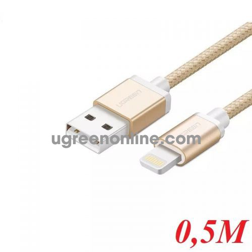 Ugreen 40695 0.5M MFI Lightning to USB cable cáp Aluminum Case + Braid US199 10040695