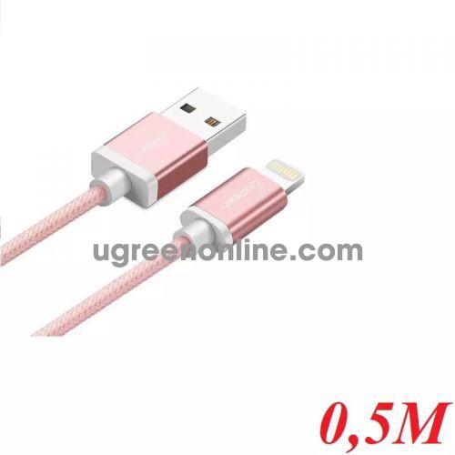 Ugreen 40697 0.5M MFI Lightning to USB cable cáp Aluminum Case + Braid US199 10040697