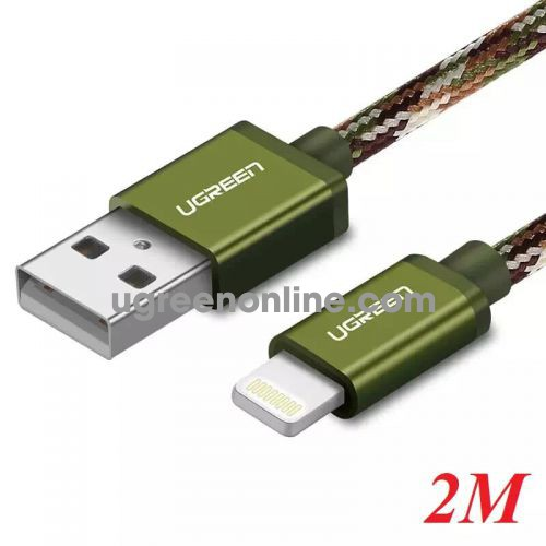 Ugreen 40878 2M USB 2.0 to Lightning cable cáp with Braid US247 10040878