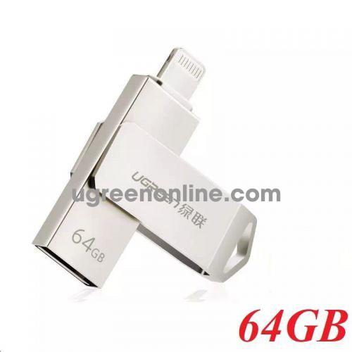 Ugreen 30617 64G USB 2.0 Flash Drive For Iphone and Ipad US200 10030617