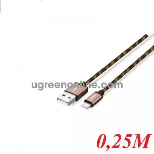 Ugreen 40476 0.25M USB 2.0 to Lightning cable cáp with Braid US247 10040476
