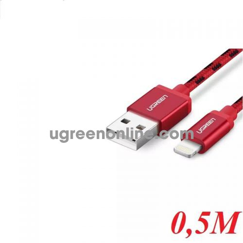 Ugreen 40478 0.5M USB 2.0 to Lightning cable cáp with Braid US247 10040478