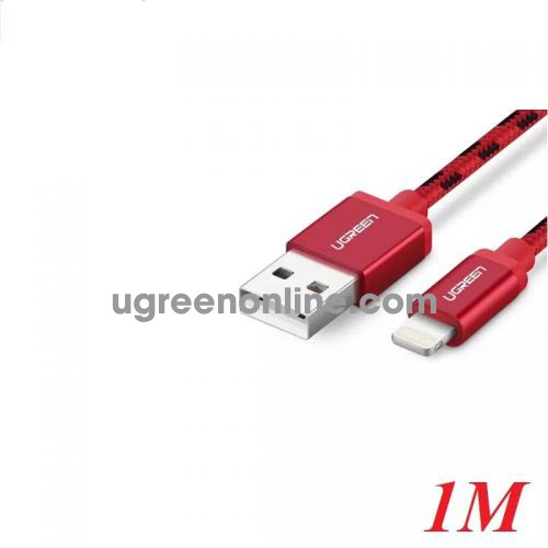 Ugreen 40479 1M USB 2.0 to Lightning cable cáp with Braid US247 10040479